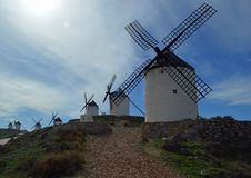 Famous Consuegra Windmills royalty free stock photo