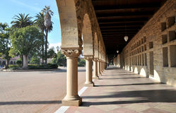 Famous corridor in Stanford University Royalty Free Stock Photo