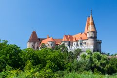 Famous Corvin Castle at Hunedoara Royalty Free Stock Images