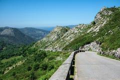 The famous Covadonga cycling high slope of la huesera Royalty Free Stock Images