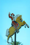 The famous cowboy on his horse in downtown Las Vegas, Nevada. Royalty Free Stock Photography