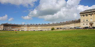 The famous Crescent at Bath City in England Royalty Free Stock Image