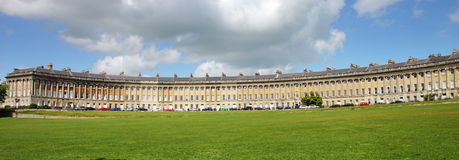 The famous Crescent at Bath City in England Stock Photos
