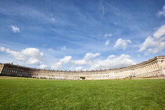 The famous Crescent at Bath City. The famous Crescent of Georgian Houses in Bath City in England Stock Photo
