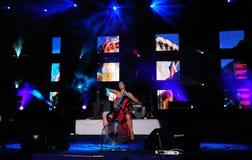 Famous Croatian cellist Ana Ručner Royalty Free Stock Photo