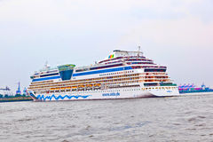 Famous cruise liner AIDA leaves the harbor Royalty Free Stock Photo