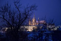 Famous Czech cathedral Royalty Free Stock Photo