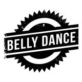 Famous dance style, belly dance stamp. Grunge design with dust scratches. Effects can be easily removed for a clean, crisp look. Color is easily changed Royalty Free Stock Image