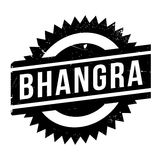 Famous dance style, Bhangra stamp Royalty Free Stock Photography