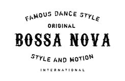 Famous dance style, Bossa Nova stamp Royalty Free Stock Photography