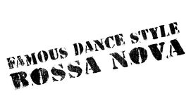 Famous dance style, Bossa Nova stamp. Grunge design with dust scratches. Effects can be easily removed for a clean, crisp look. Color is easily changed Stock Images