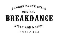 Famous dance style, Breakdance stamp Royalty Free Stock Images