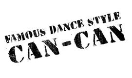 Famous dance style, Can-Can stamp Royalty Free Stock Images