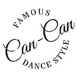 Famous dance style, Can-Can stamp Royalty Free Stock Photo