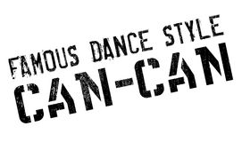 Famous dance style, Can-Can stamp Stock Photo