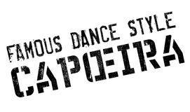 Famous dance style, Capoeira stamp Royalty Free Stock Photo