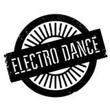 Famous dance style, Electro Dance stamp Royalty Free Stock Image