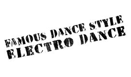 Famous dance style, Electro Dance stamp Stock Photo