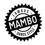 Famous dance style, Mambo stamp. Grunge design with dust scratches. Effects can be easily removed for a clean, crisp look. Color is easily changed Royalty Free Stock Image
