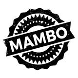 Famous dance style, Mambo stamp. Grunge design with dust scratches. Effects can be easily removed for a clean, crisp look. Color is easily changed Royalty Free Stock Photography