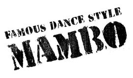 Famous dance style, Mambo stamp. Grunge design with dust scratches. Effects can be easily removed for a clean, crisp look. Color is easily changed Stock Images