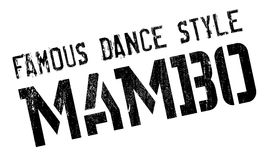 Famous dance style, Mambo stamp. Grunge design with dust scratches. Effects can be easily removed for a clean, crisp look. Color is easily changed Stock Photo