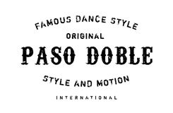 Famous dance style, Paso Doble stamp Royalty Free Stock Images