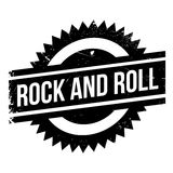 Famous dance style, Rock and Roll stamp Stock Images