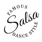 Famous dance style, salsa stamp. Grunge design with dust scratches. Effects can be easily removed for a clean, crisp look. Color is easily changed Royalty Free Stock Image