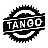 Famous dance style, tango stamp Royalty Free Stock Photos
