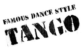 Famous dance style, tango stamp Royalty Free Stock Image