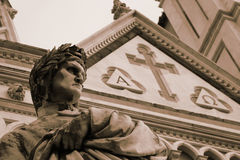 Famous Dante sculpture in Florence Stock Photography