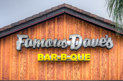 Famous Dave's Restaurant Exterior and Logo Royalty Free Stock Photo