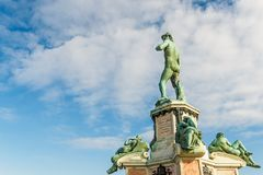 Famous David sculpture at Florence. Royalty Free Stock Image