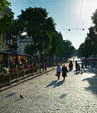 Famous Deribasivska street, Odessa Royalty Free Stock Photos