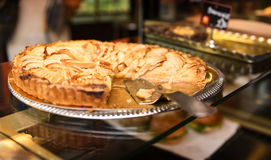 Famous dessert, tasted apple pie Royalty Free Stock Photos