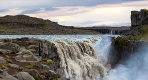 Famous Dettifoss is a waterfall of Iceland Royalty Free Stock Photos