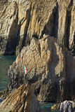 Famous diving cliff La Quebrada in Acapulco Royalty Free Stock Image