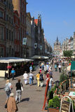 Famous Dluga street, Gdansk. Most famous Dluga (Long) street in Gdansk Royalty Free Stock Photo