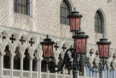 The famous Doge Palace in San Marco Square in Venice, Italy Royalty Free Stock Images