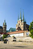 Famous Dom hill of Erfurt Germany Stock Photos
