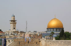 Famous Dome of the Rock mosque in Jerusalem Royalty Free Stock Images