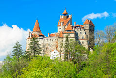 The famous Dracula castle,Bran,Transylvania,Romania. Bran castle and spring landscape,Transylvania,Romania