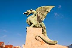 Famous Dragon bridge in Ljubljana Royalty Free Stock Image