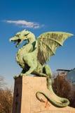 Famous Dragon bridge in Ljubljana Stock Photos