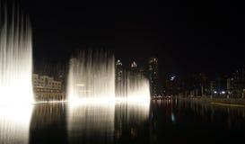 Famous dubai musical fountain, United Arab Emirates Stock Photography