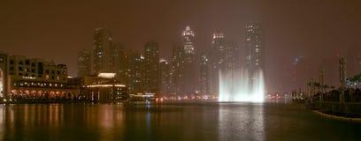 Famous dubai musical fountain, United Arab Emirates Stock Photo