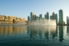 Famous dubai musical fountain, United Arab Emirates Royalty Free Stock Images
