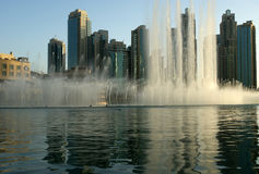 Famous dubai musical fountain, United Arab Emirates Stock Images