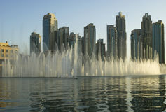 Famous dubai musical fountain, United Arab Emirates Royalty Free Stock Photography